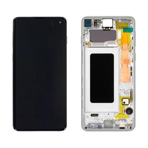White Screen for Samsung Galaxy S10 SM-G973F - Original Quality