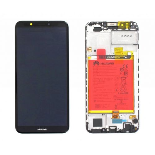 Zwart scherm voor Huawei Y7 2018 met Batterij - Originele kwaliteit