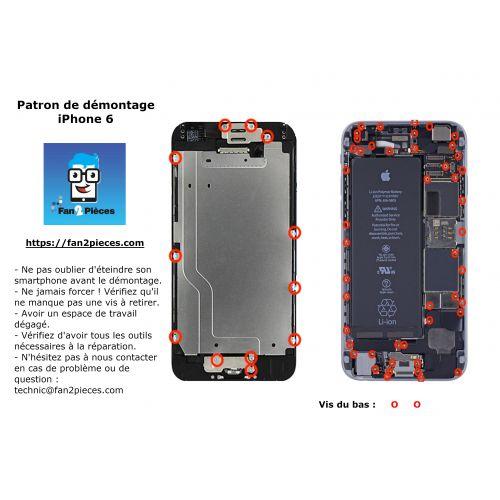 Gratuit : Patron de démontage téléchargeable pour iPhone 6