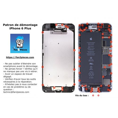 Free: Downloadable disassembly pattern for iPhone 6 Plus