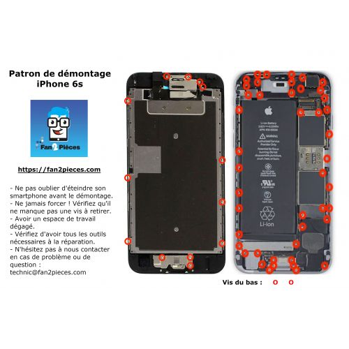 Free: Downloadable disassembly pattern for iPhone 6s