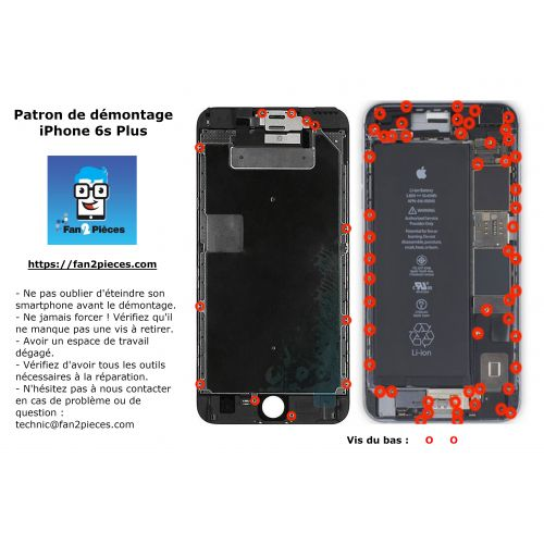 Free: Downloadable disassembly pattern for iPhone 6s Plus