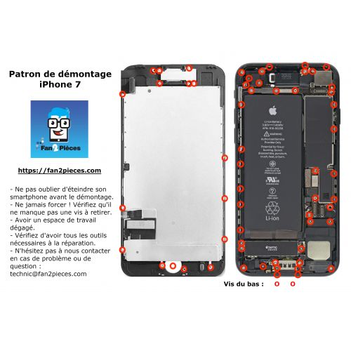 Free: Downloadable disassembly pattern for iPhone 7 Plus