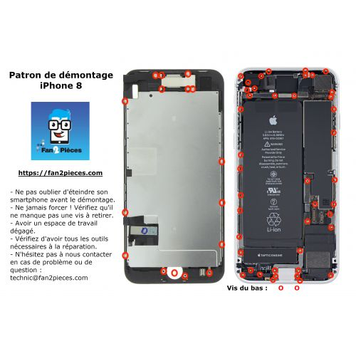 Free: Downloadable disassembly pattern for iPhone 8