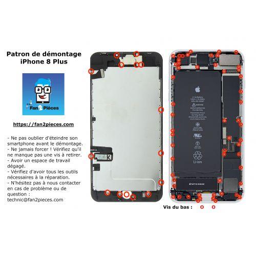 Gratis: Downloadbaar demontagepatroon voor iPhone 8 Plus