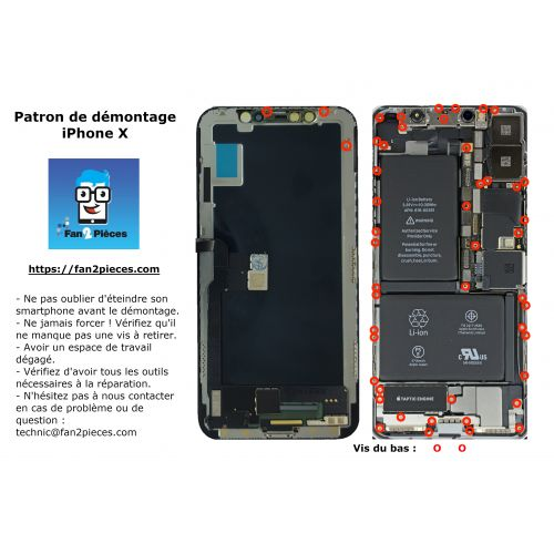 Free: Downloadable disassembly pattern for iPhone X
