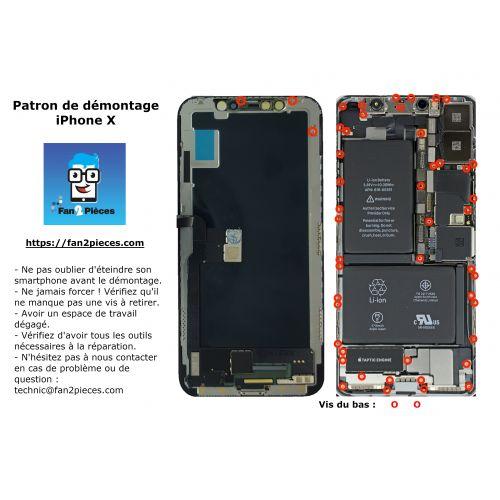 Gratis: Downloadbaar demontagepatroon voor iPhone X
