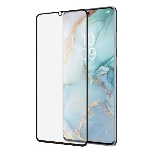 Samsung Galaxy S10 Lite - Zwart curved Tempered glass screenprotector 9H 3D