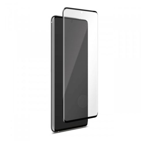 Samsung Galaxy S20 Ultra - Black curved Tempered glass 9H 3D