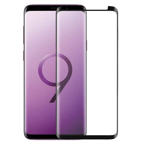 Samsung Galaxy S9 Plus - Zwart curved Tempered glass screenprotector 9H 3D