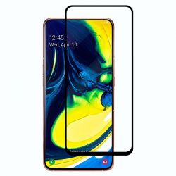 Samsung A80 - Curved tempered glass 9H 5D Black