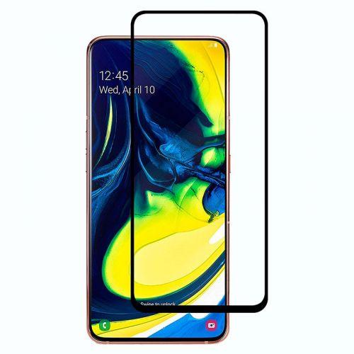 Samsung A80 - Curved tempered glass screenprotector 9H 5D Zwart