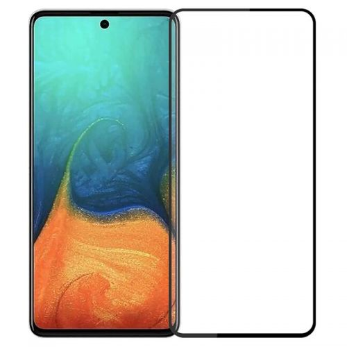 Samsung A71 - Curved tempered glass screenprotector 9H 5D Zwart