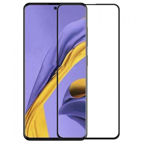 Samsung A51 - Curved tempered glass screenprotector 9H 5D Zwart