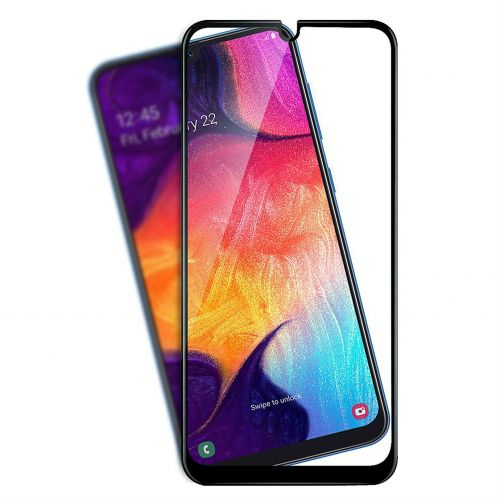 Samsung A50 - Curved tempered glass 9H 5D Black