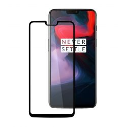 OnePlus 6 - Curved tempered glass screenprotector 9H 5D Zwart