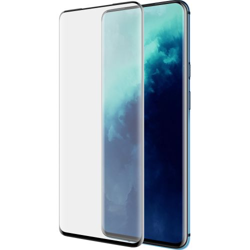 OnePlus 7T PRO - Curved tempered glass screenprotector 9H 5D Zwart