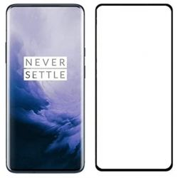OnePlus 7 PRO - Curved tempered glass screenprotector 9H 5D Zwart