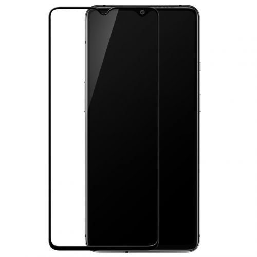 OnePlus 7T - Curved tempered glass screenprotector 9H 5D Zwart
