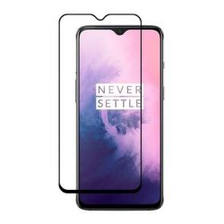 OnePlus 7 - Curved tempered glass screenprotector 9H 5D Zwart