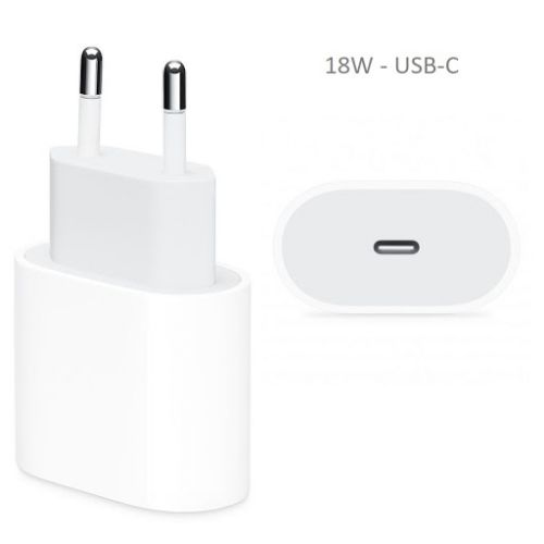 Chargeur secteur USB-C 18W Blanc