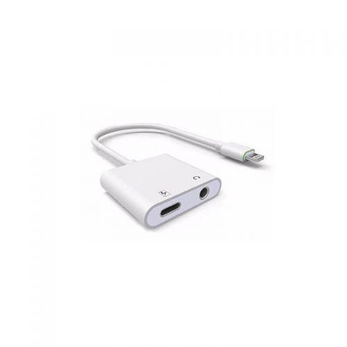 Adaptateur lightning vers recharge (lightning) et audio (Jack 3,5mm)