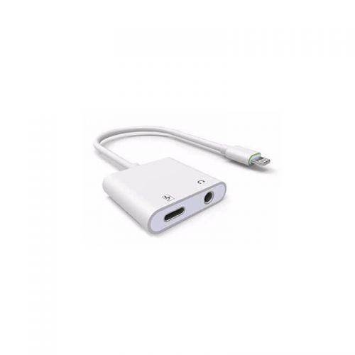 Lightning adapter to charging (lightning) and audio (Jack 3,5mm)