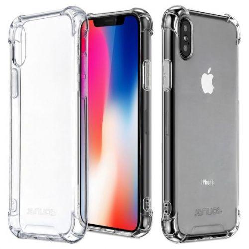 Coque en TPU antichoc transparente pour iPhone X et iPhone Xs