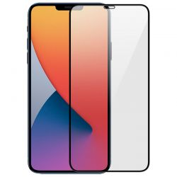 iPhone 12 - Film en verre trempé 9H Noir