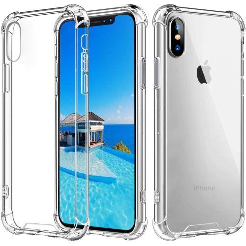 Coque en TPU antichoc transparente pour iPhone Xs MAX