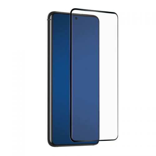 Samsung Galaxy S21 - Black curved tempered glass 9H 3D