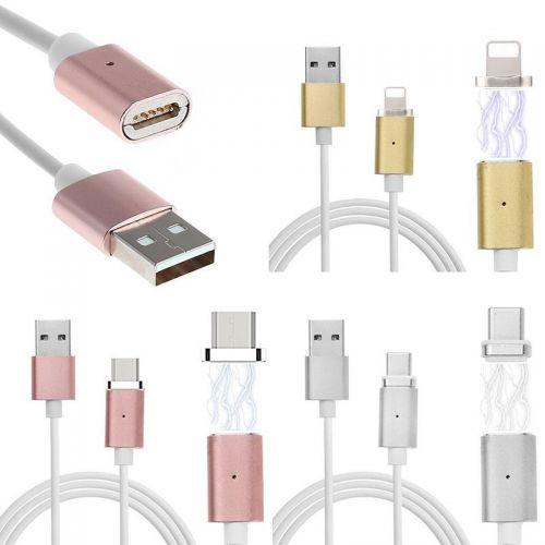 Cable 3 en 1 magnetique, micro USB, lightning et USB-C