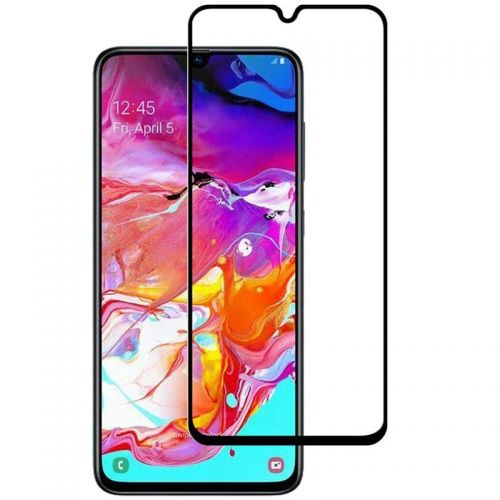 Samsung A70 - Curved tempered glass screenprotector 9H 5D Zwart