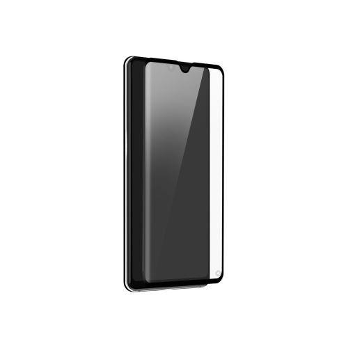 Huawei P30 lite - Zwarte curved tempered glass screenprotector 9H 5D